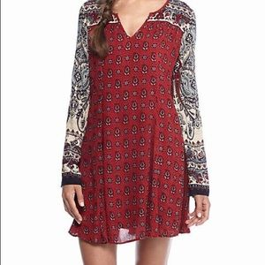Patrons of Peace red boho swing bell sleeve dress